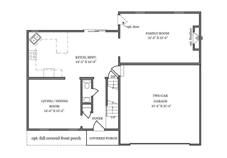 Adams II First Floor Plan