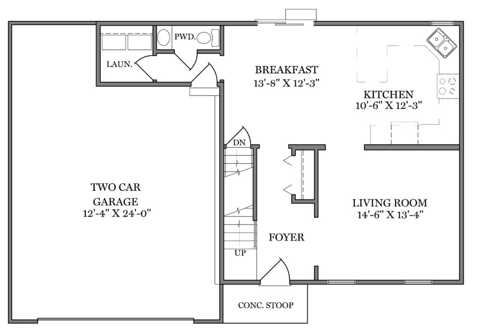Adams First Floor Plan