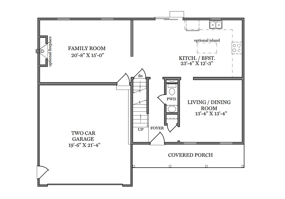 Benton First Floor Plan