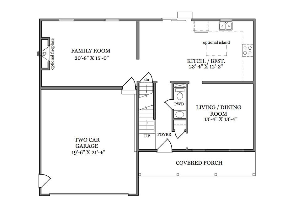Benton First Floor Plan