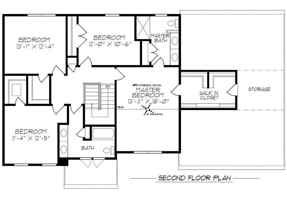 Brentwood Second Floor Plan