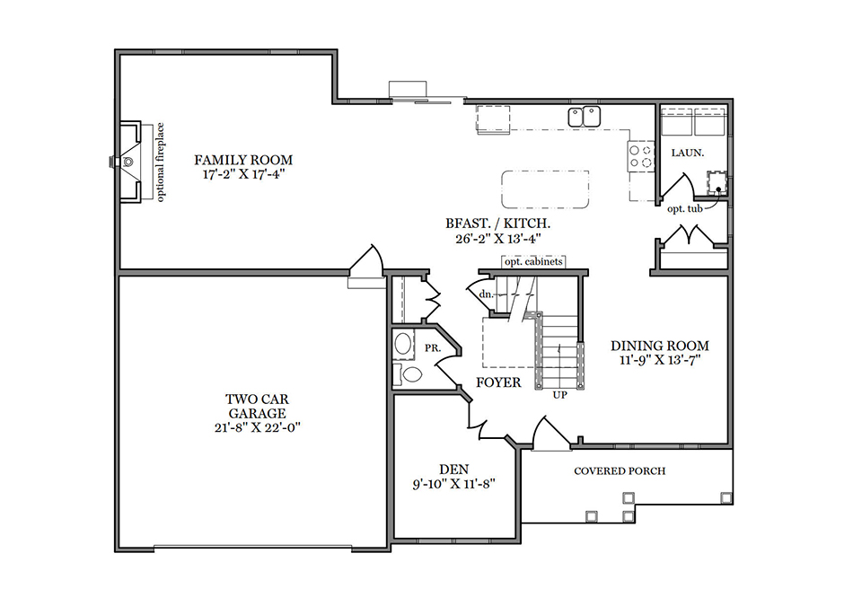 Cambridge American First Floor Plan