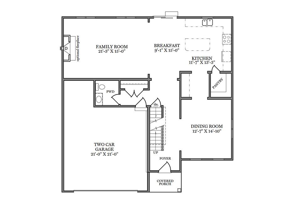 Carlton American First Floor Plan