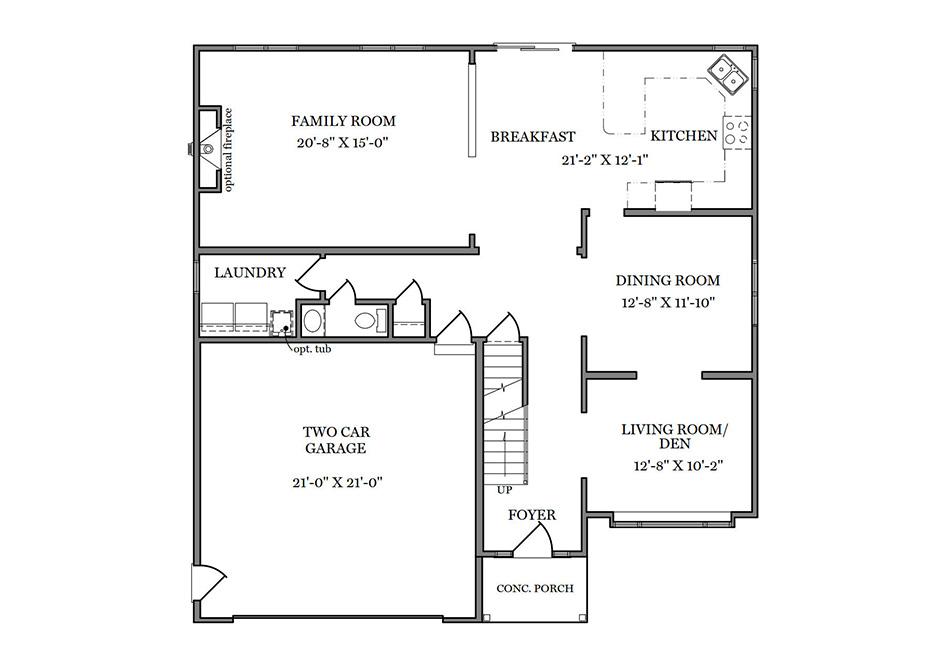 Carlton First Floor Plan