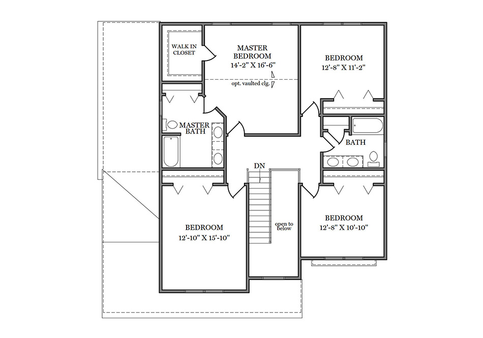 Carlton Second Floor Plan