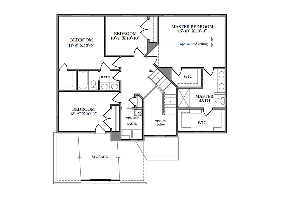 Dalton American Second Floor Plan