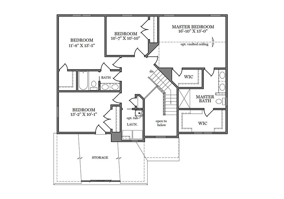 Dalton American Second Floor Plan