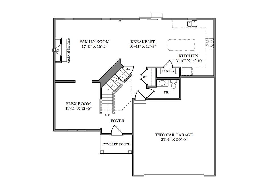 Dalton Heritage First Floor Plan