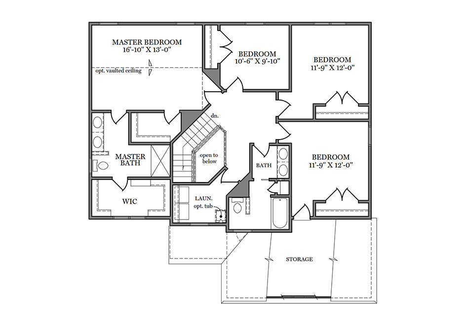 Dalton Heritage Second Floor Plan