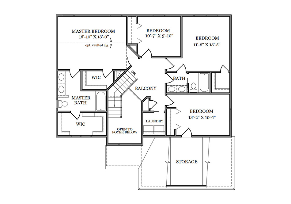 Dalton Second Floor Plan