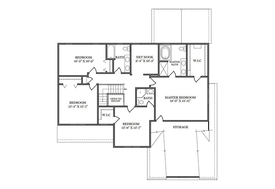 Cambridge II Second Floor Plan