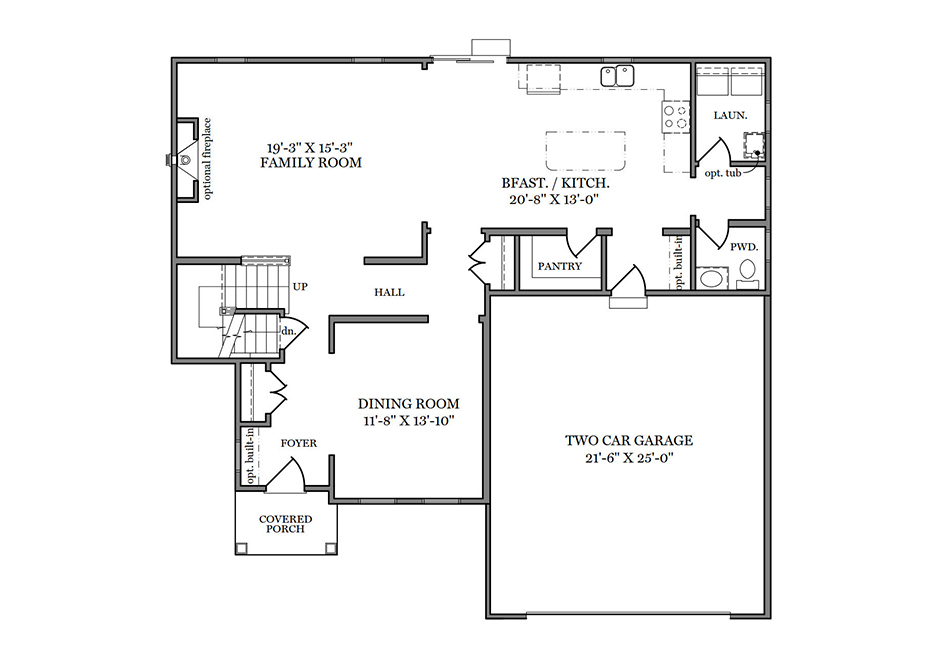 Glenwood American First Floor Plan