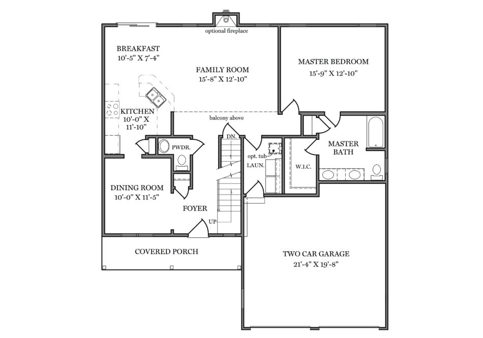 Harrison First Floor Plan