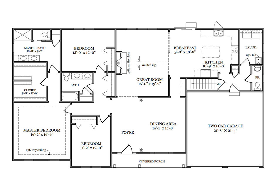 Barrington First Floor Plan