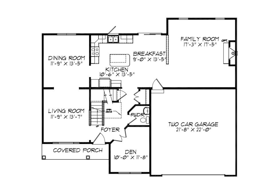 Cambridge First Floor Plan