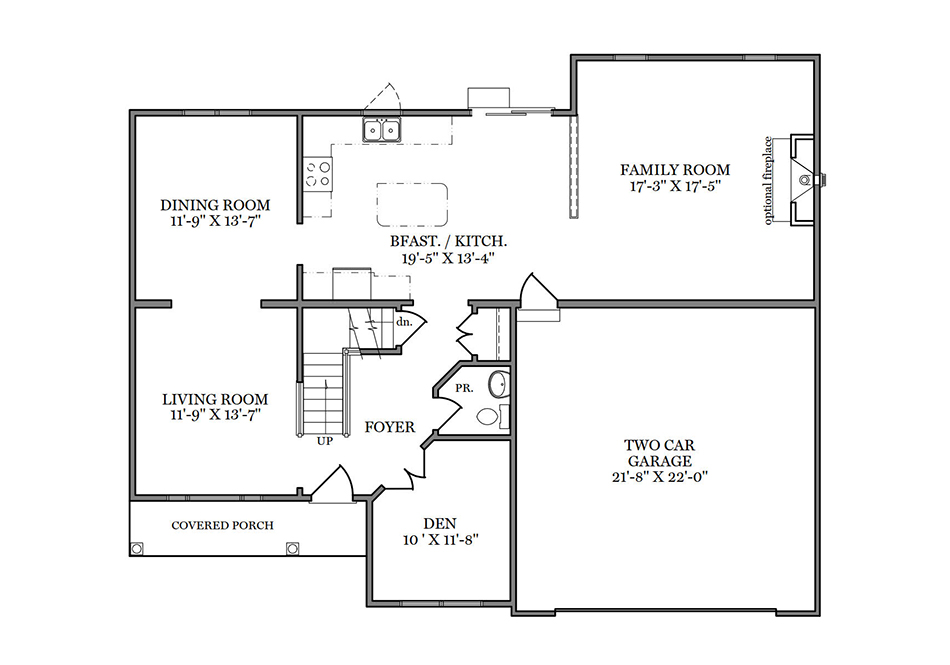 Cambridge First Floor Plan