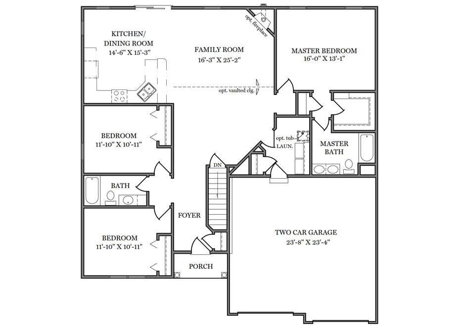 Linden First Floor Plan