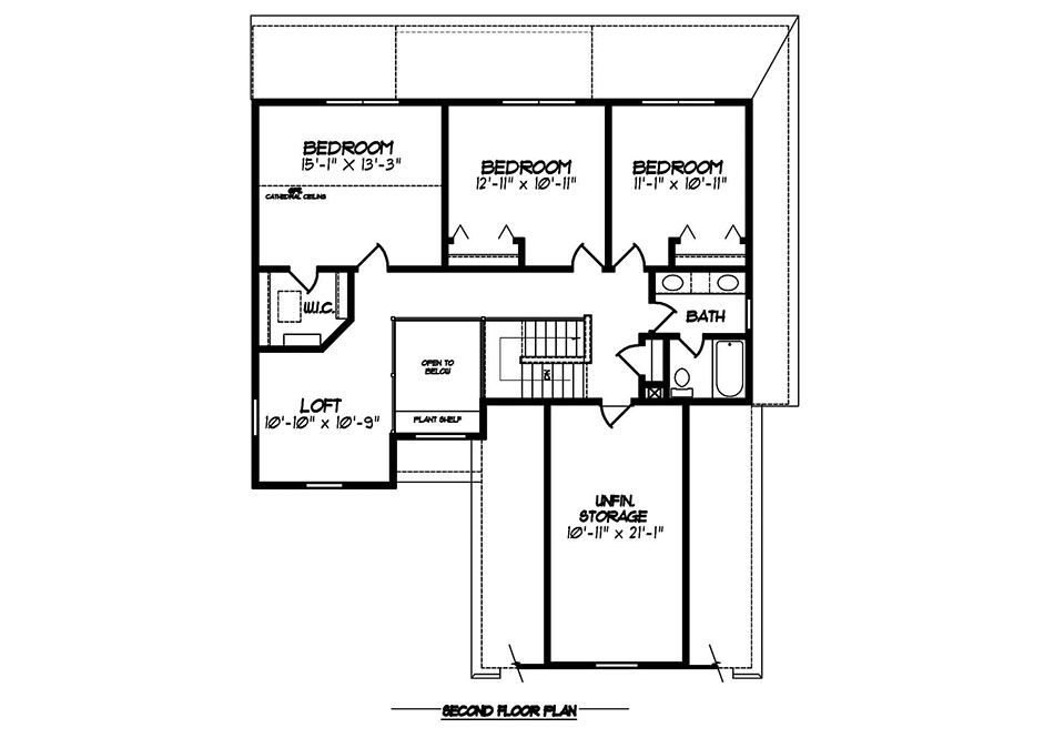 Fulton II Second Floor Plan