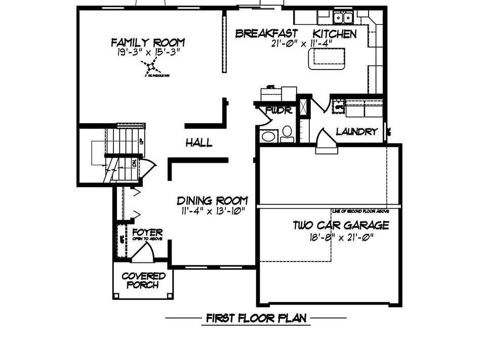Glenwood II American First Floor Plan