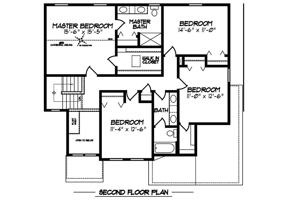 Glenwood II American Second Floor Plan