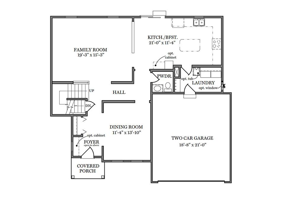 Glenwood II American First Floor Plan