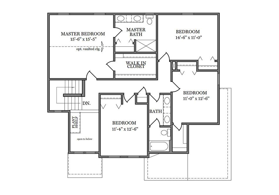 Glenwood II American Second Floor Plan