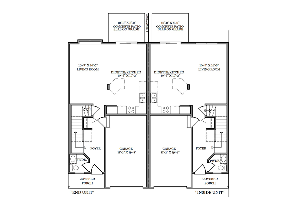 22′ A-Unit First Floor Plan