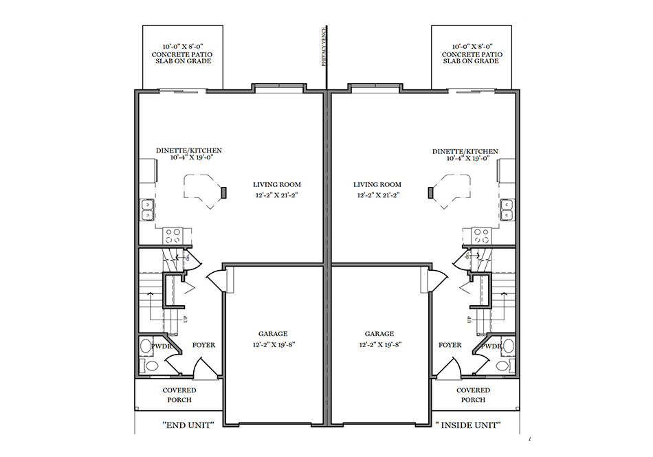 24′ B-Unit First Floor Plan