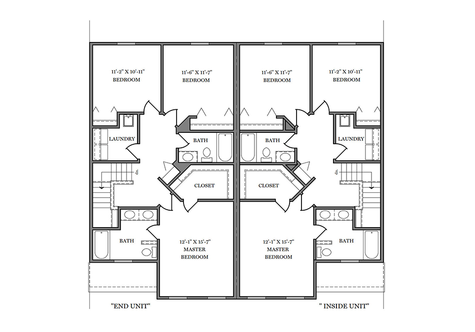 24′ B-Unit Second Floor Plan