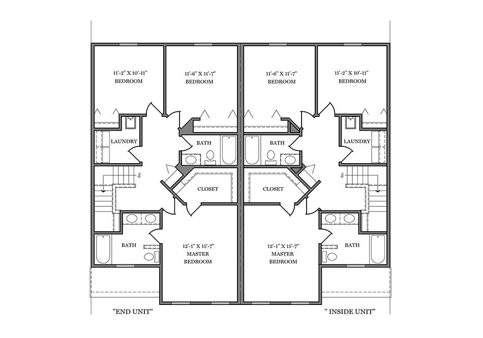 24′ B-Unit Second Floor Plan
