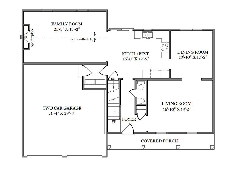 Wakefield First Floor Plan