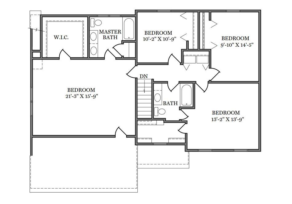 Warwick Second Floor Plan