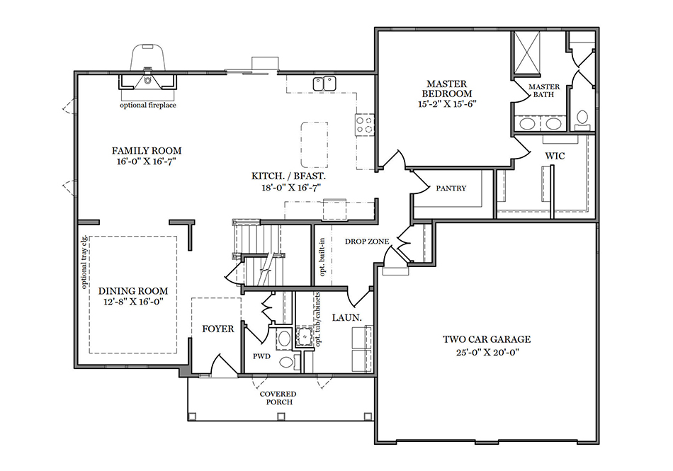 Windsor First Floor Plan