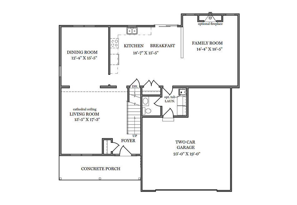 Wyndmour First Floor Plan