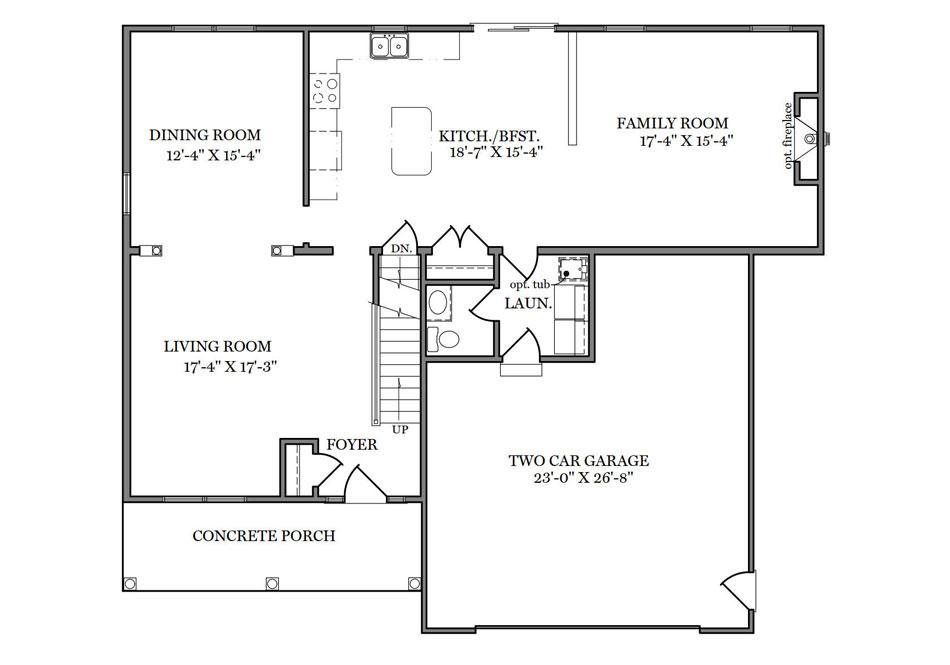 Wyndmour First Floor Plan