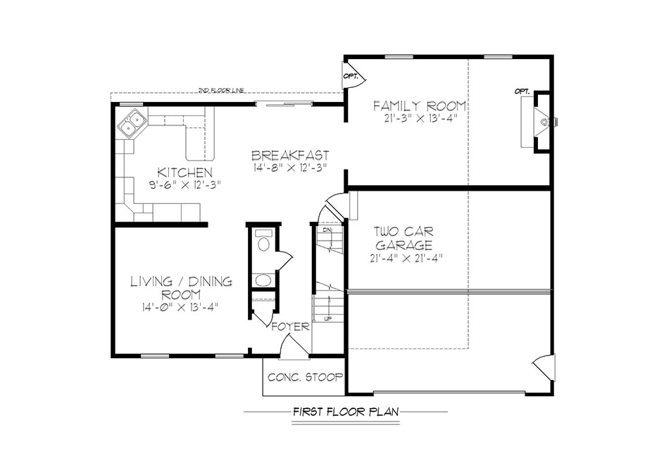 Adams II First Floor Plan