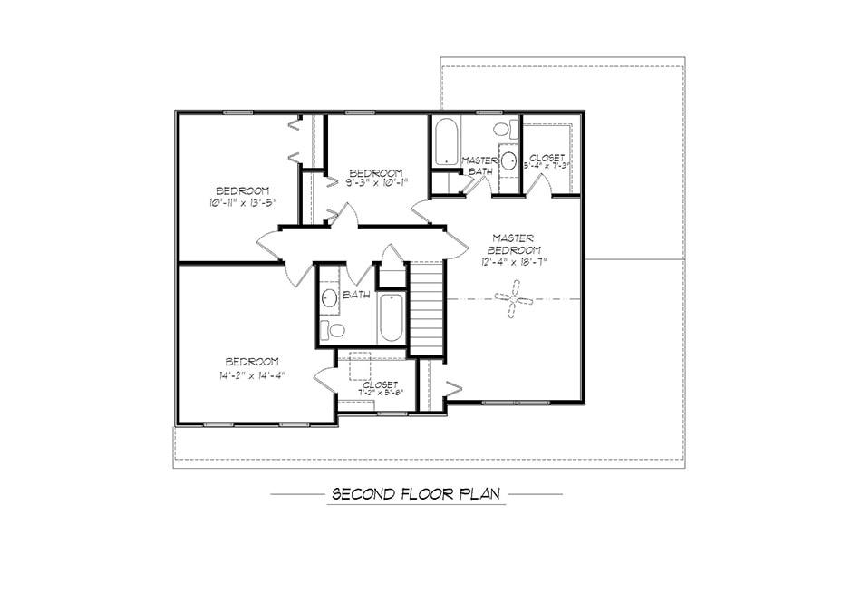 Adams II Second Floor Plan
