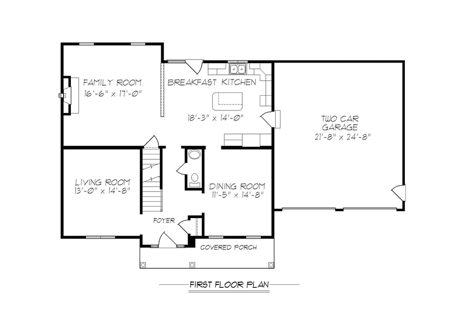 Amberwood First Floor Plan