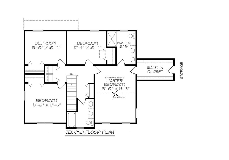 Amberwood Second Floor Plan