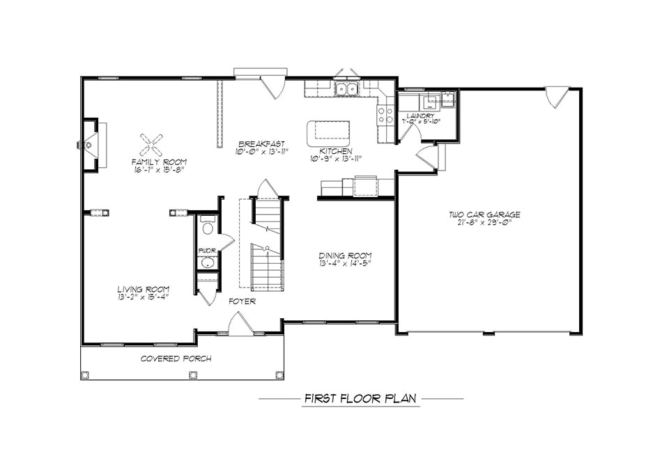 Brentwood First Floor Plan
