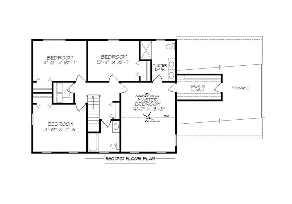 Briarwood 38′ Second Floor Plan