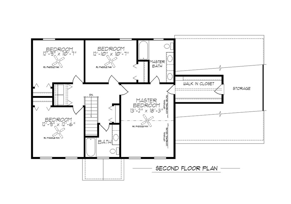 Briarwood 36′ Second Floor Plan
