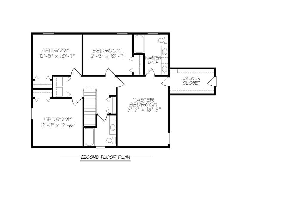 Briarwood 36′ Second Floor Plan