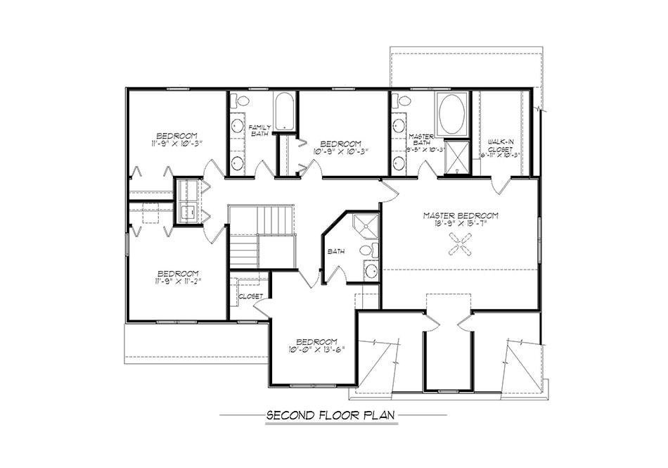 Cambridge Second Floor Plan