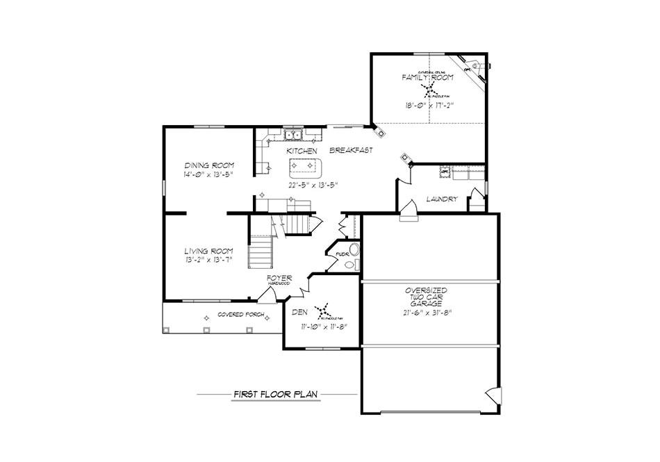 Cambridge II First Floor Plan