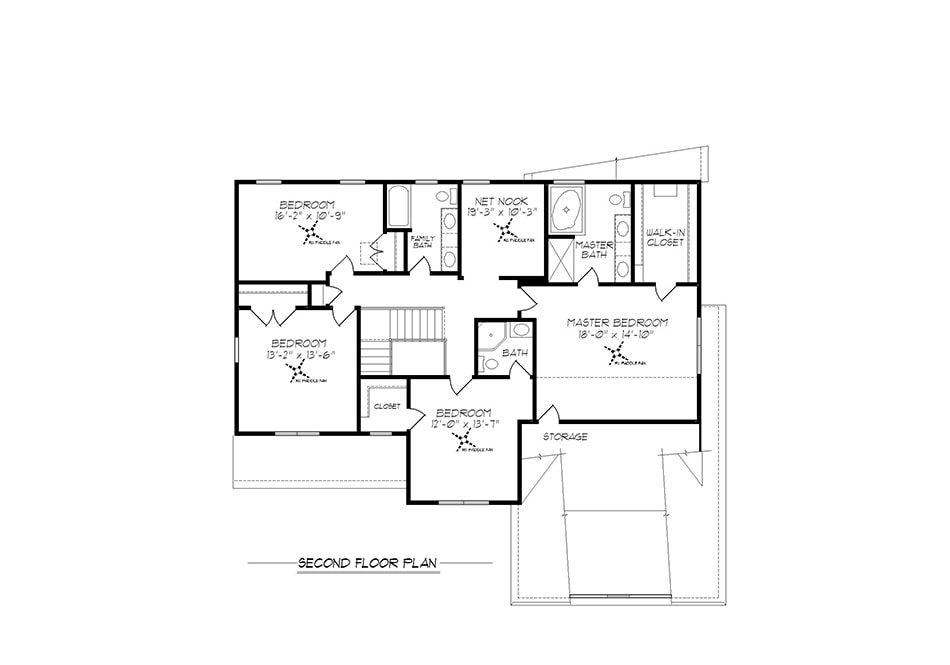 Cambridge II Second Floor Plan