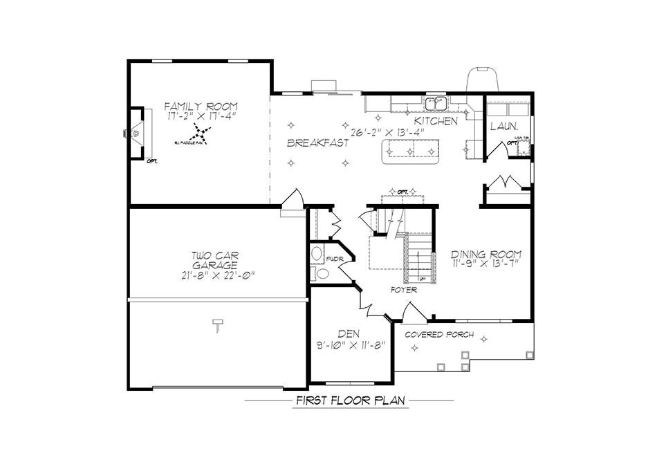 Cambridge American First Floor Plan