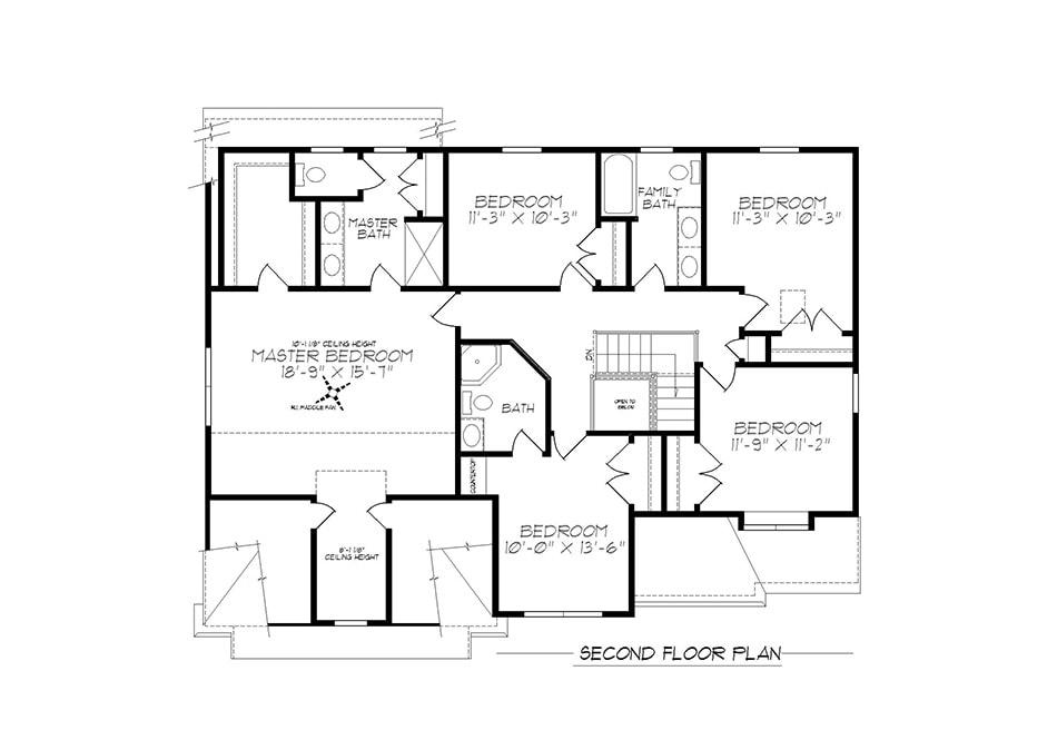 Cambridge American Second Floor Plan