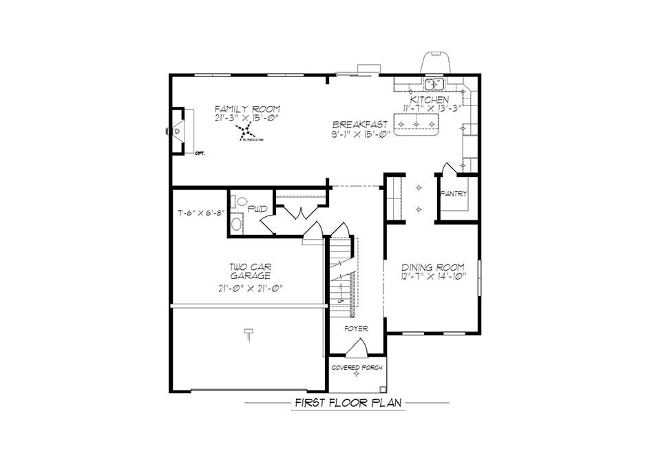 Carlton American First Floor Plan