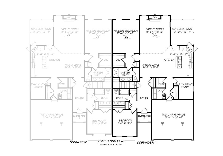 Coriander II First Floor Plan